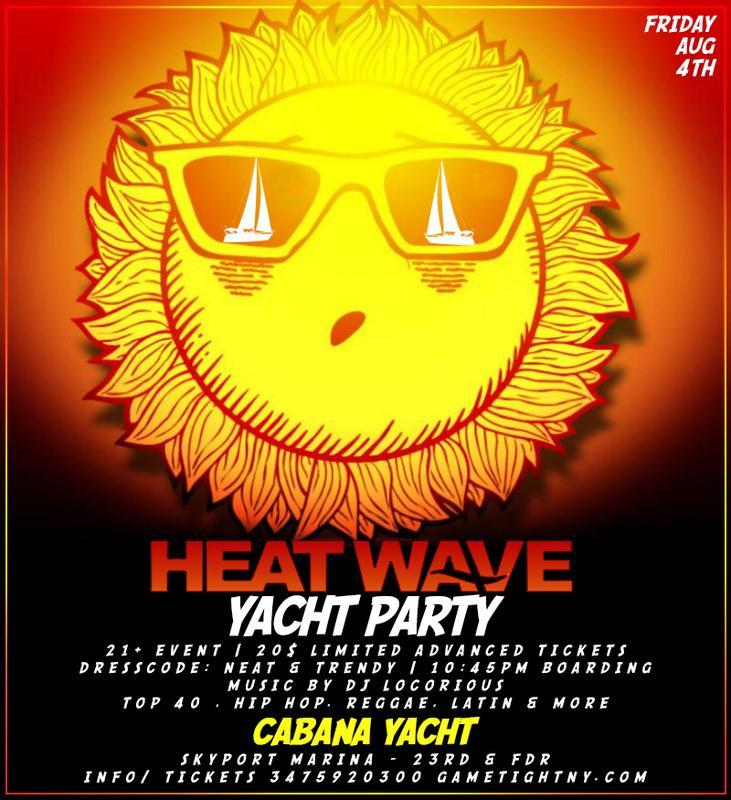 Skyport Marina Cabana Yacht Summer Heatwave Yacht Party