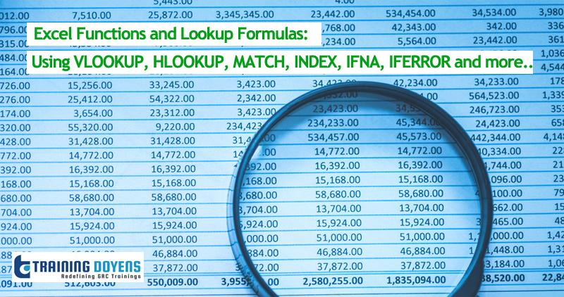 Webinar on Excel Functions and Lookup Formulas: Using VLOOKUP, HLOOKUP, MATCH, INDEX, IFNA, IFERROR and more..
