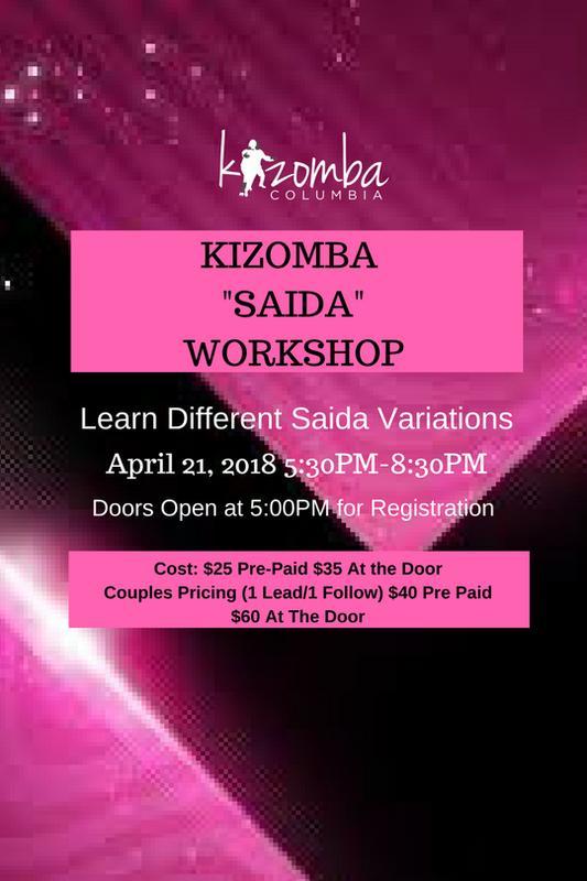 """Kizomba """"SAIDA"""" Workshop"""