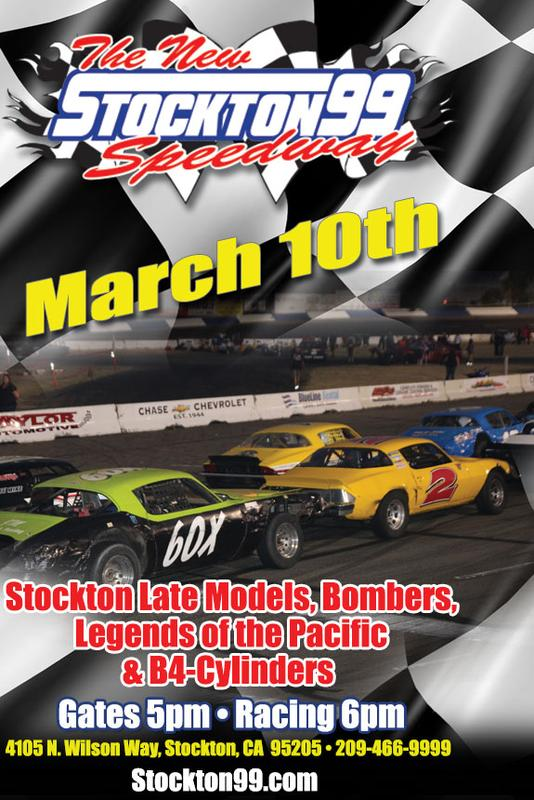March 10, 2018 - Stockton Late Models, Bombers, B4 Cylinders & Legends of the Pacific