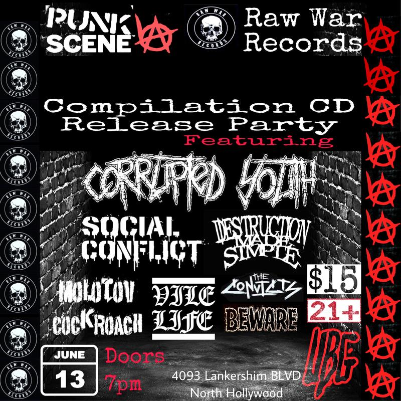 """Raw War Records 'The Takeover"""" Compilation CD Release Party Ft. Corrupted Youth"""