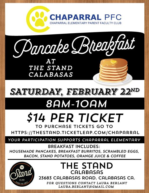 Chaparral PFC Pancake Breakfast at The Stand