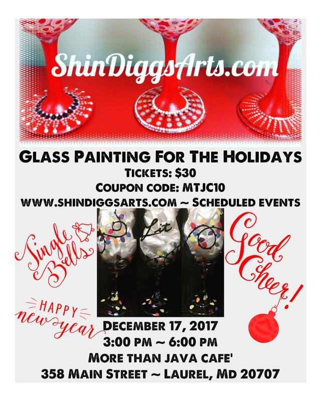 ShinDiggs Arts Holiday pARTy at More Than Java Cafe'