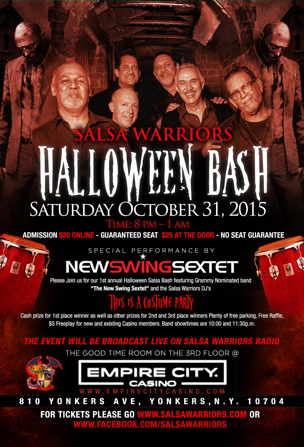 SALSA WARRIORS HALLOWEEN BASH LIVE WITH THE NEW SWING SEXTET ...