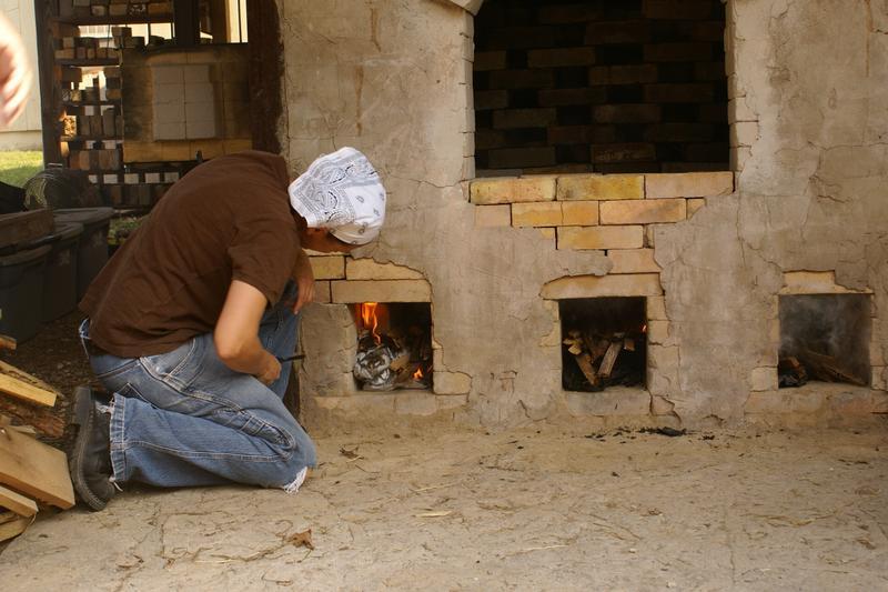 Ground Hog Kiln Wood Firing