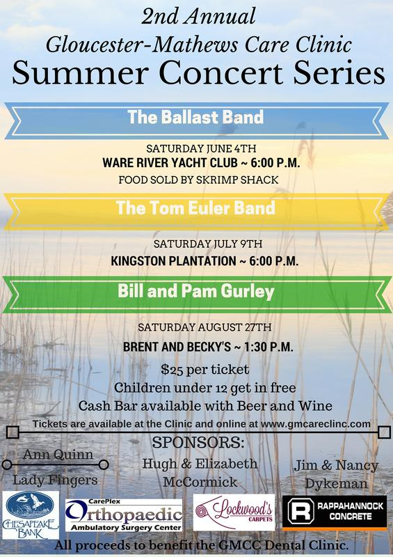 Bill and Pam Gurley- 2nd Annual Summer Concert Series