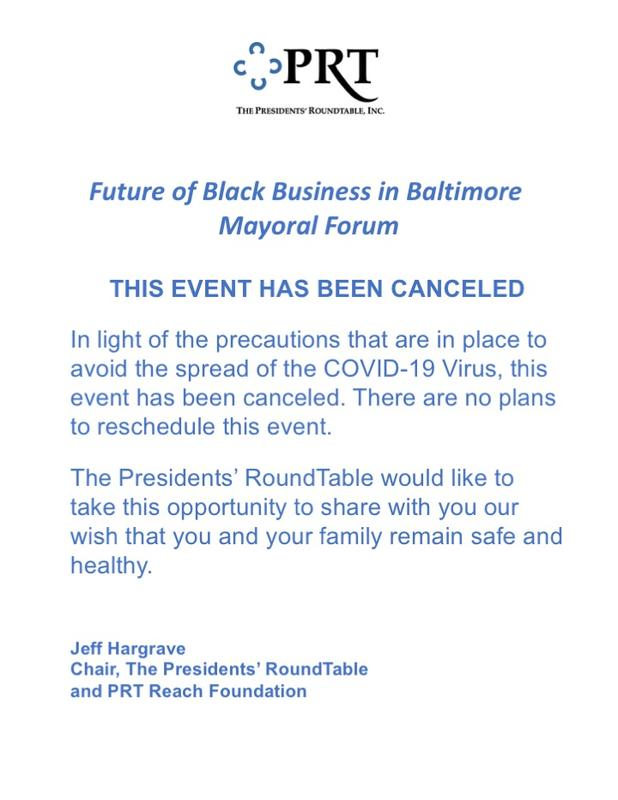 Future of Black Business in Baltimore  - Mayoral Forum