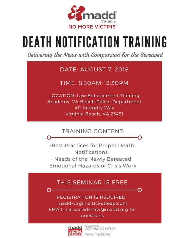 Death Notification Training