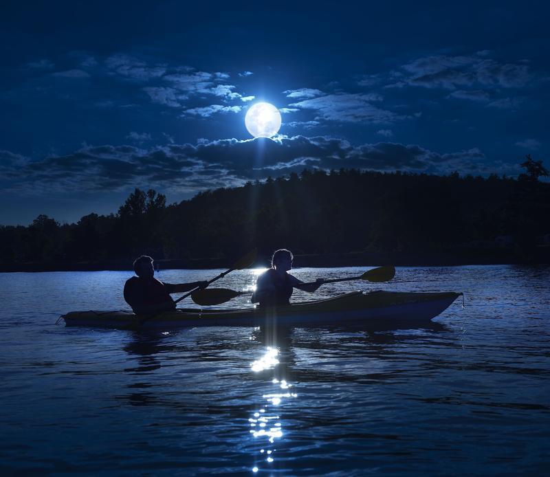 Moonlight Kayak at Pleasant Hill Lake