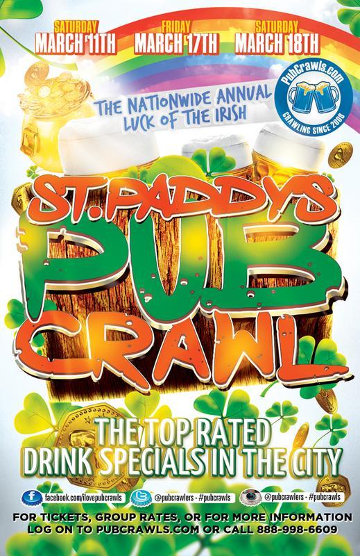 Arlington St Patrick's Day Bar Crawl
