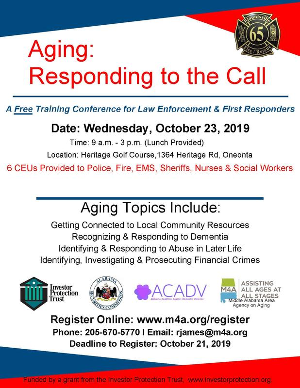 AGING: RESPONDING TO THE CALL - BLOUNT