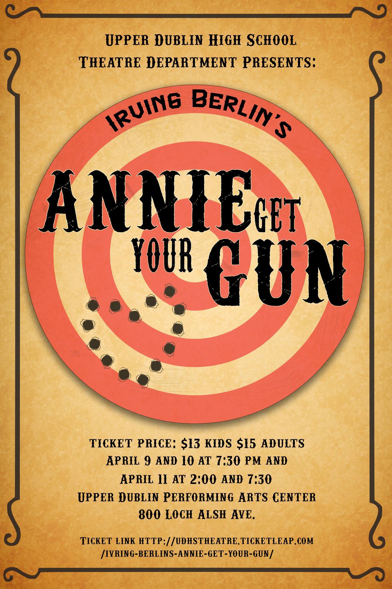 irving berlins annie get your gun tickets in ft