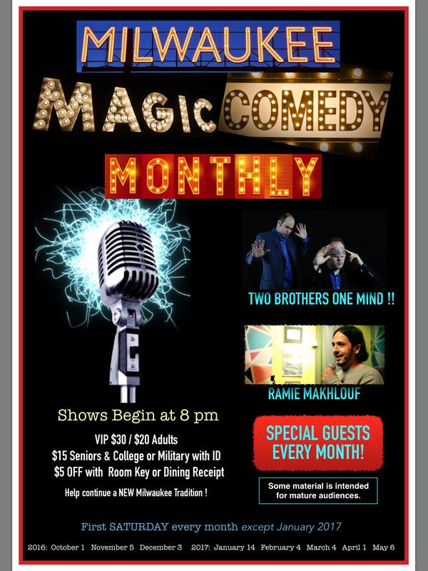 Milwaukee Magic & Comedy Monthly