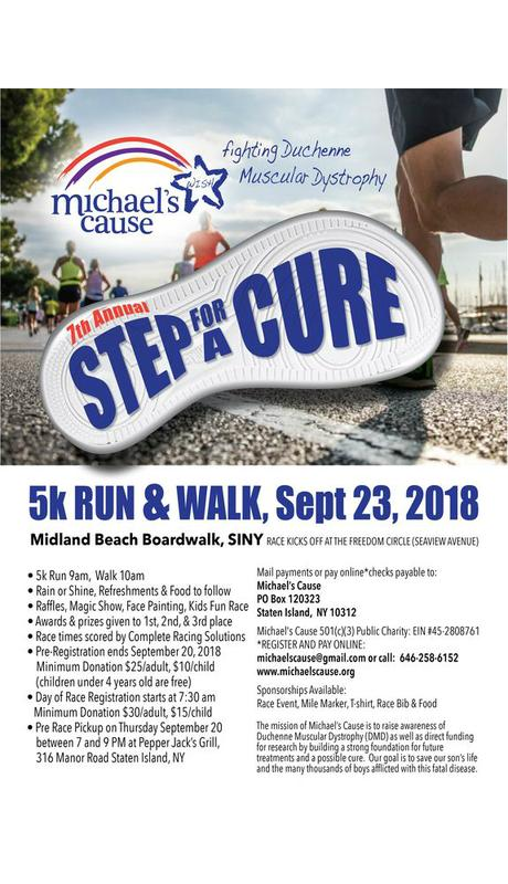 Michael's Cause 7th Annual Step for a Cure 5K Run and Walk