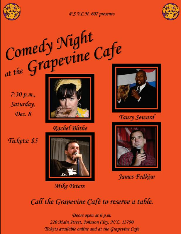 Comedy Night at the Grapevine Cafe (Dec. 8)