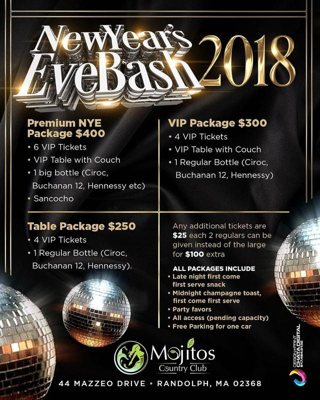 New Year's Eve Bash 2018  VIP Packages
