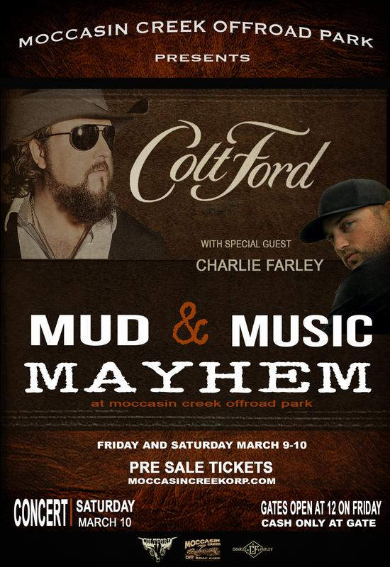 March Mud and Music Ticketing (Gate Entry and/or full hook up reservations)