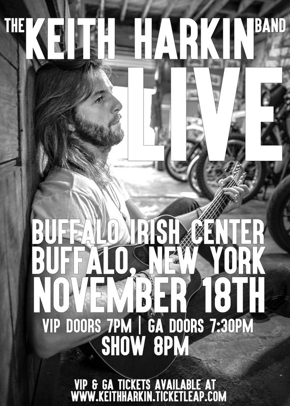 Buffalo Irish Center~The Keith Harkin Band~Nov18th~All Ages