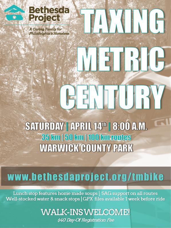 Taxing Metric Century Bike Ride