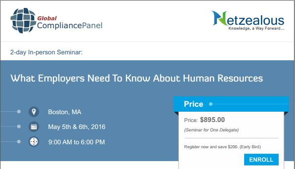 Conference on What Employers Need To Know About Human Resources