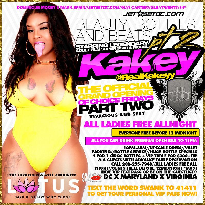 KAKEY Adult Film Super Star Host @ Lotus | Txt Swank to 41411 for