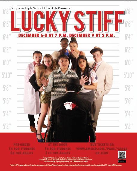 """Saginaw High School Fine Arts presents """"Lucky Stiff"""""""