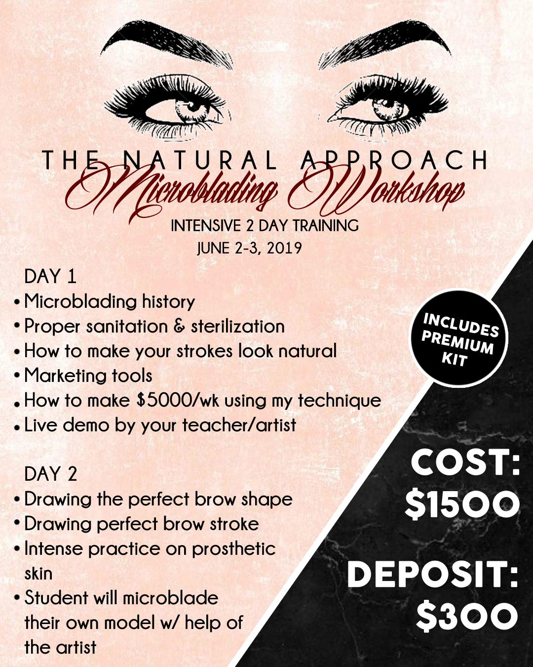 The Natural Approach Microblading Workshop Tickets in