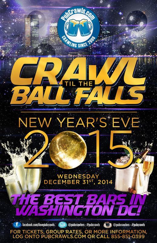 Crawl Til The Ball Falls PubCrawl Washington D.C.-2015