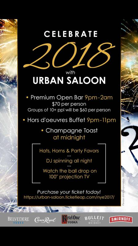 Urban Saloon New Year's Eve 2017