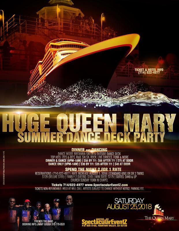 "HUGE Queen Mary ""Summer Dance Deck"" Party**Earlybird Discount by 7/1"