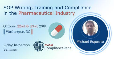 Seminar On SOP Writing, Training and Compliance in the Pharmaceutical Industry