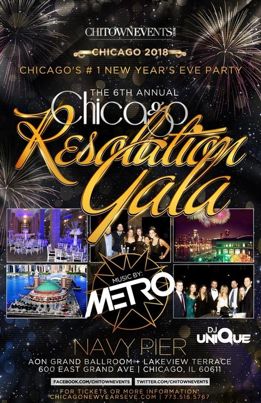 The 6th Annual Chicago Resolution Gala at The AON Grand Ballroom at Navy Pier