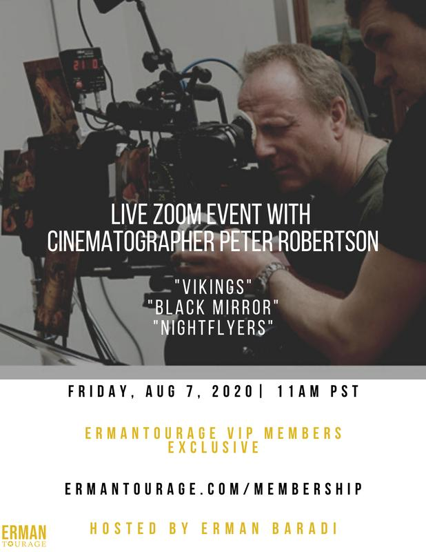 Free Zoom Hangout with Cinematographer Peter Robertson