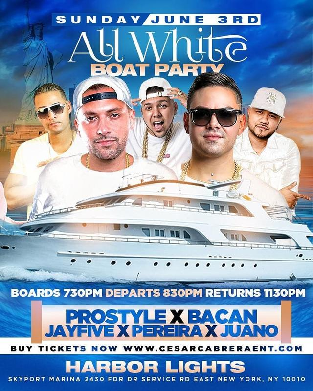 11th Annual All White Boat Ride Party DJ Prostyle Live At Harbor Lights