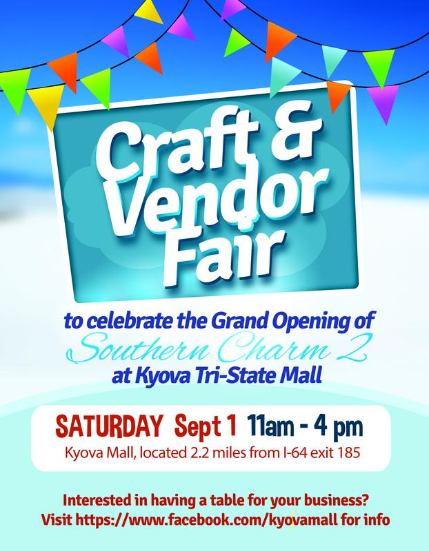 Craft and Vendor Fair celebrating the Grand Opening of Southern Charm 2