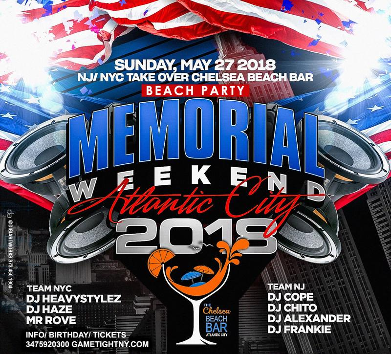 Chelsea Beach Bar Memorial Day Weekend 2018 Atlantic City