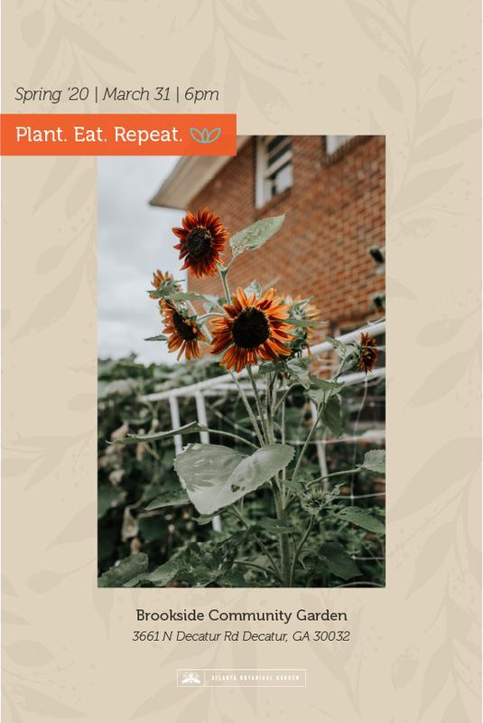 Plant. Eat. Repeat. Spring 2020 Workshop | Brookside Community Garden