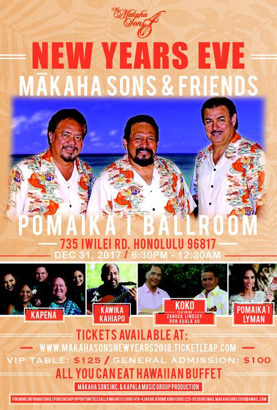 New Years Eve w/the Makaha Sons & Friends