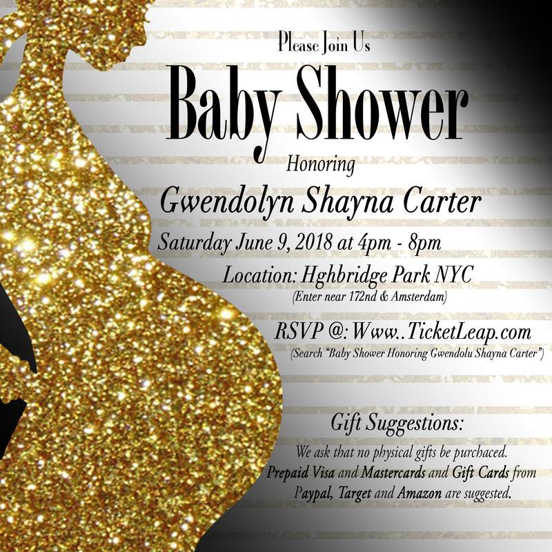 "BABY SHOWER HONORING GWENDOLYN ""SHAYNA"" CARTER"