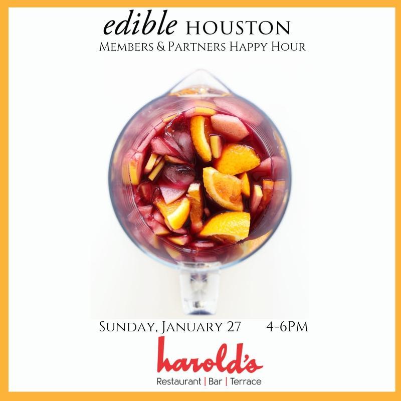 Edible Houston Members & Partners Happy Hour