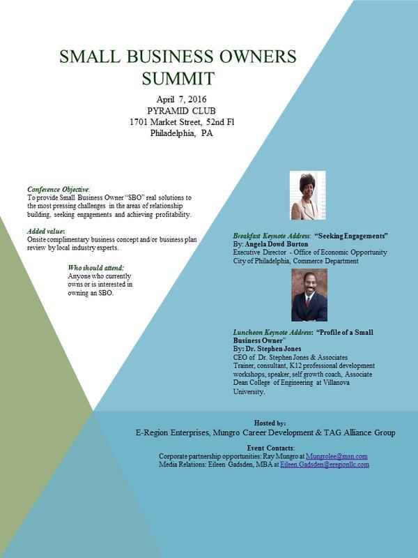 Small Business Owners Summit -  Philadelphia 2016