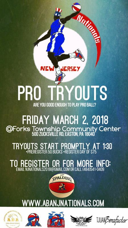 New Jersey Nationals Pro Tryouts