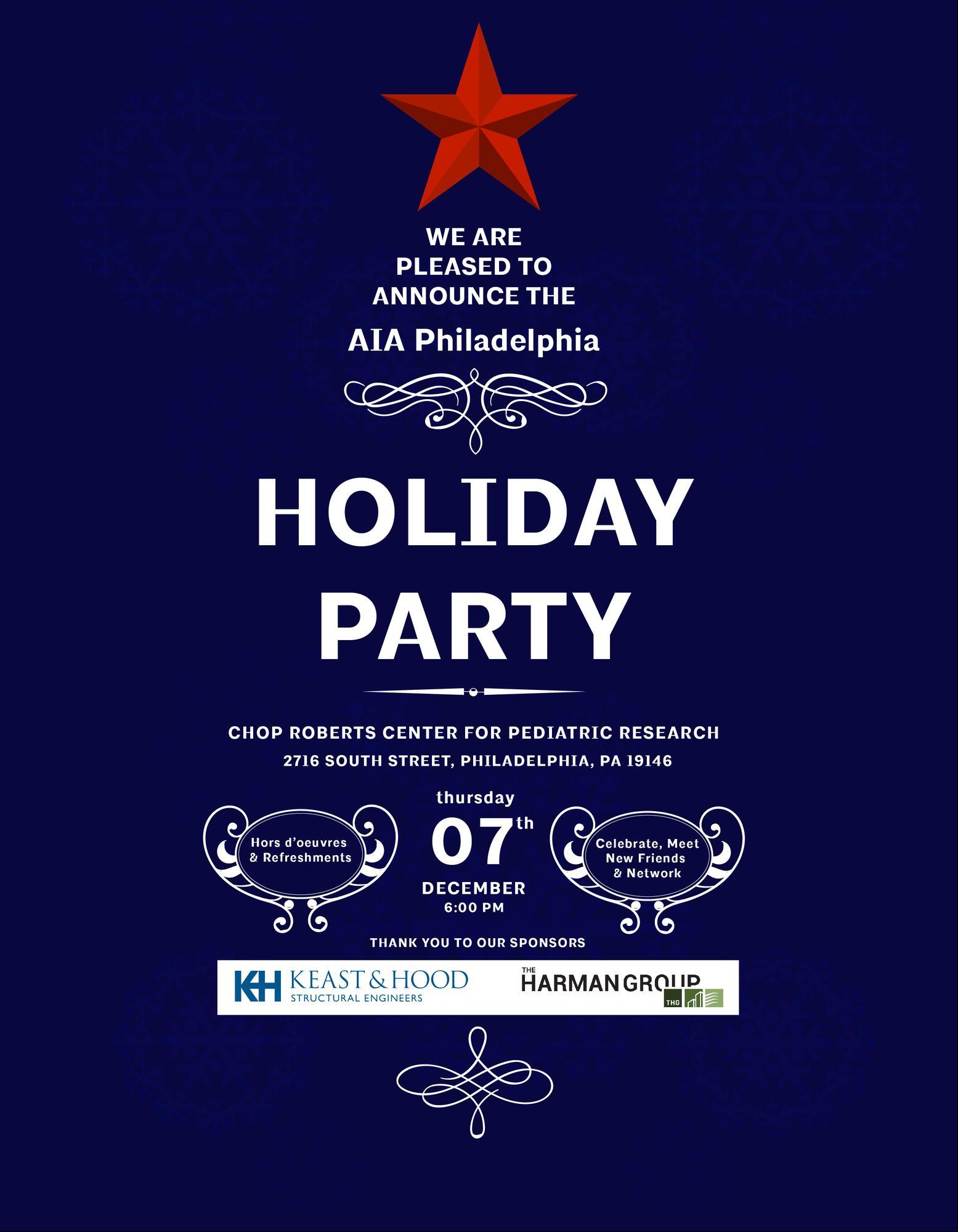 2017 AIA Philadelphia Holiday Party Tickets in Philadelphia