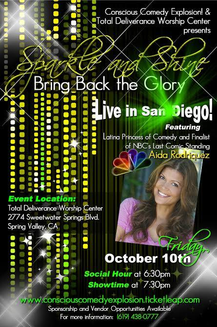 Aida Rodriguez...The Latina Princess of Comedy Live in San Diego