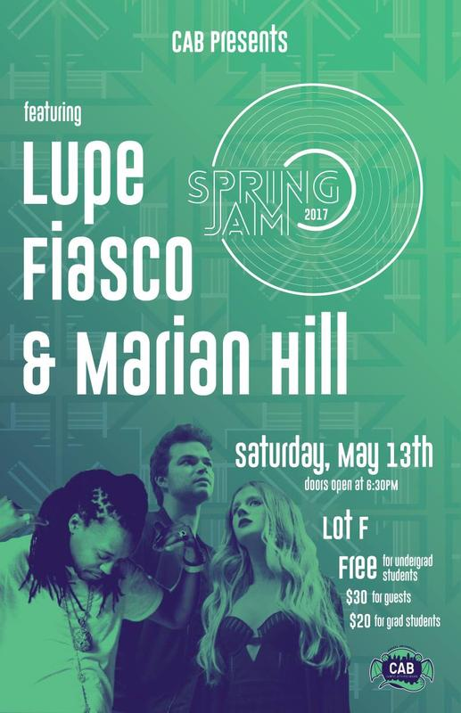 CAB Presents: Spring Jam 2017 featuring Lupe Fiasco & Marian Hill