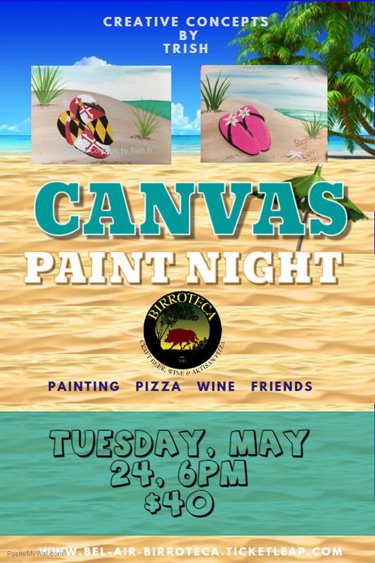 Beach Canvas Paint Night