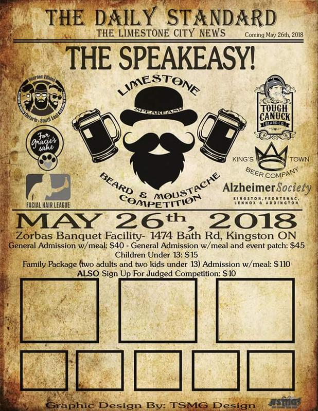 Limestone Beard and Moustache Competition: The Speakeasy
