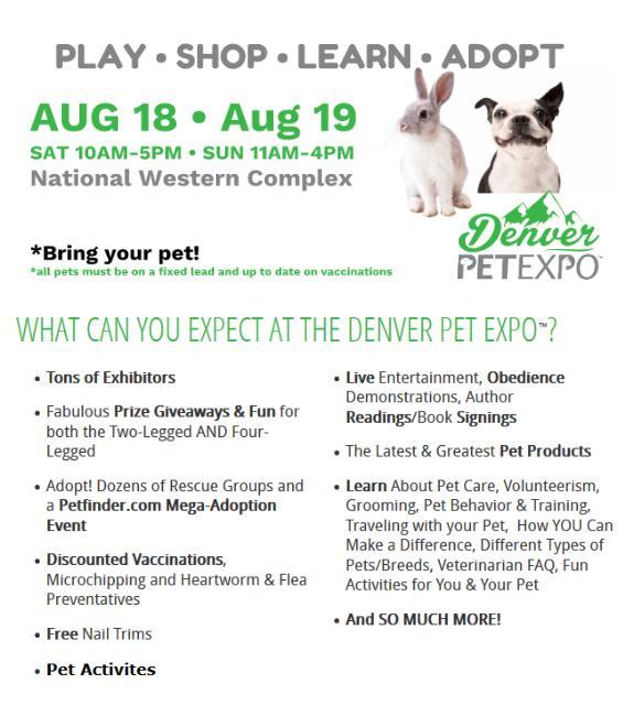Denver Pet Expo 2018