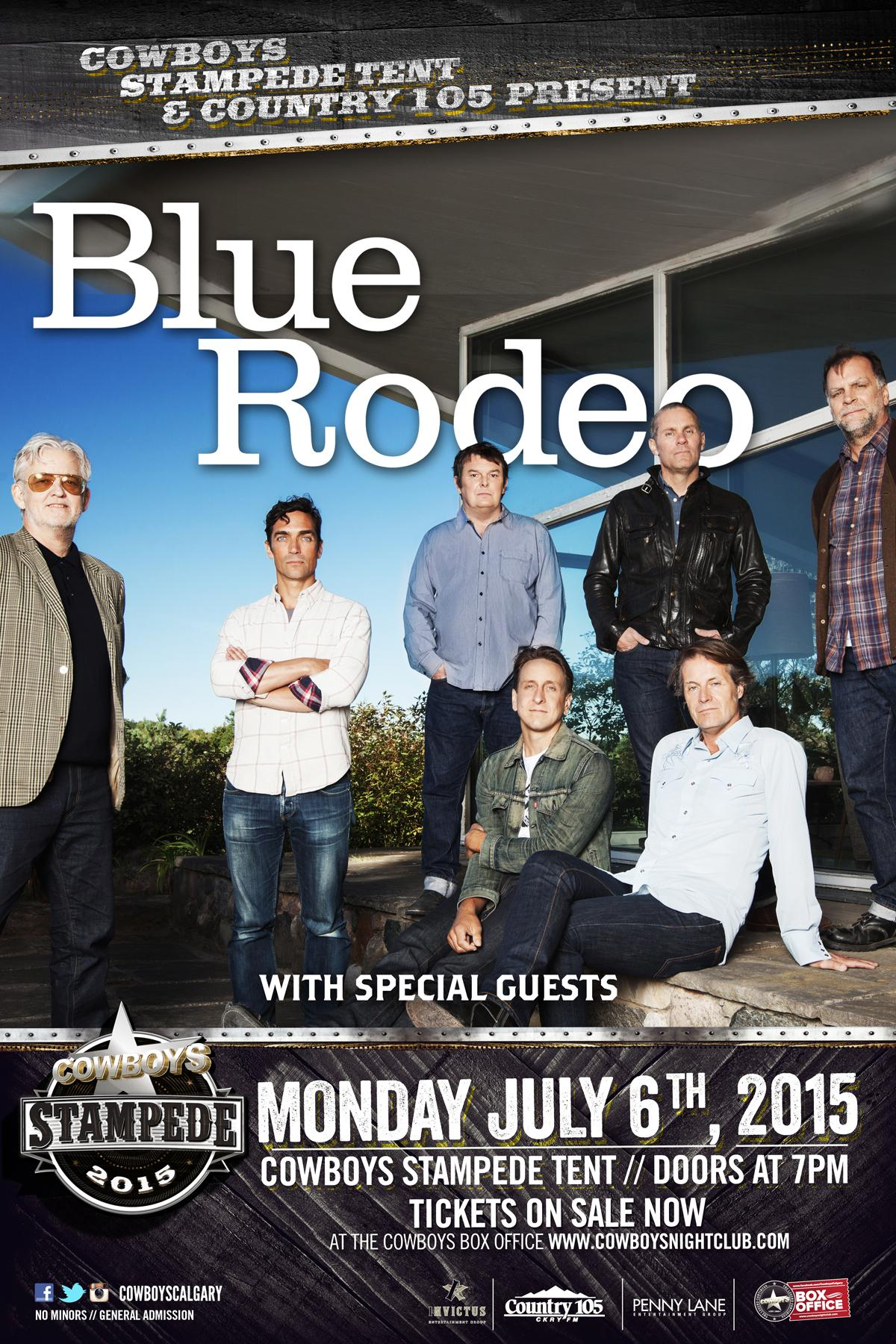 BLUE RODEO | Live at the Cowboys St&ede Tent  sc 1 st  Cowboys Dance Hall Tickets - Ticketleap & BLUE RODEO | Live at the Cowboys Stampede Tent Tickets in Calgary ...