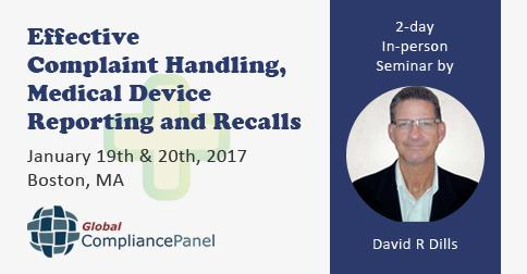 Conference on Effective Complaint Handling, Medical Device Reporting and Recalls 2017